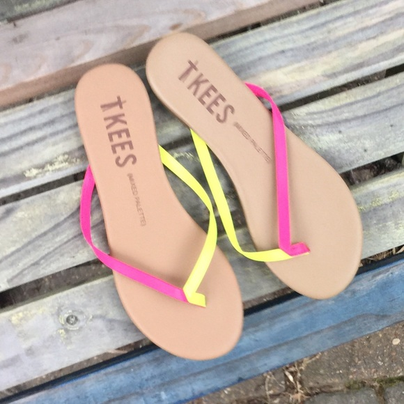 af466f21eda656 Tkees Mixed Palette Sandals Flip Flops Sz 6